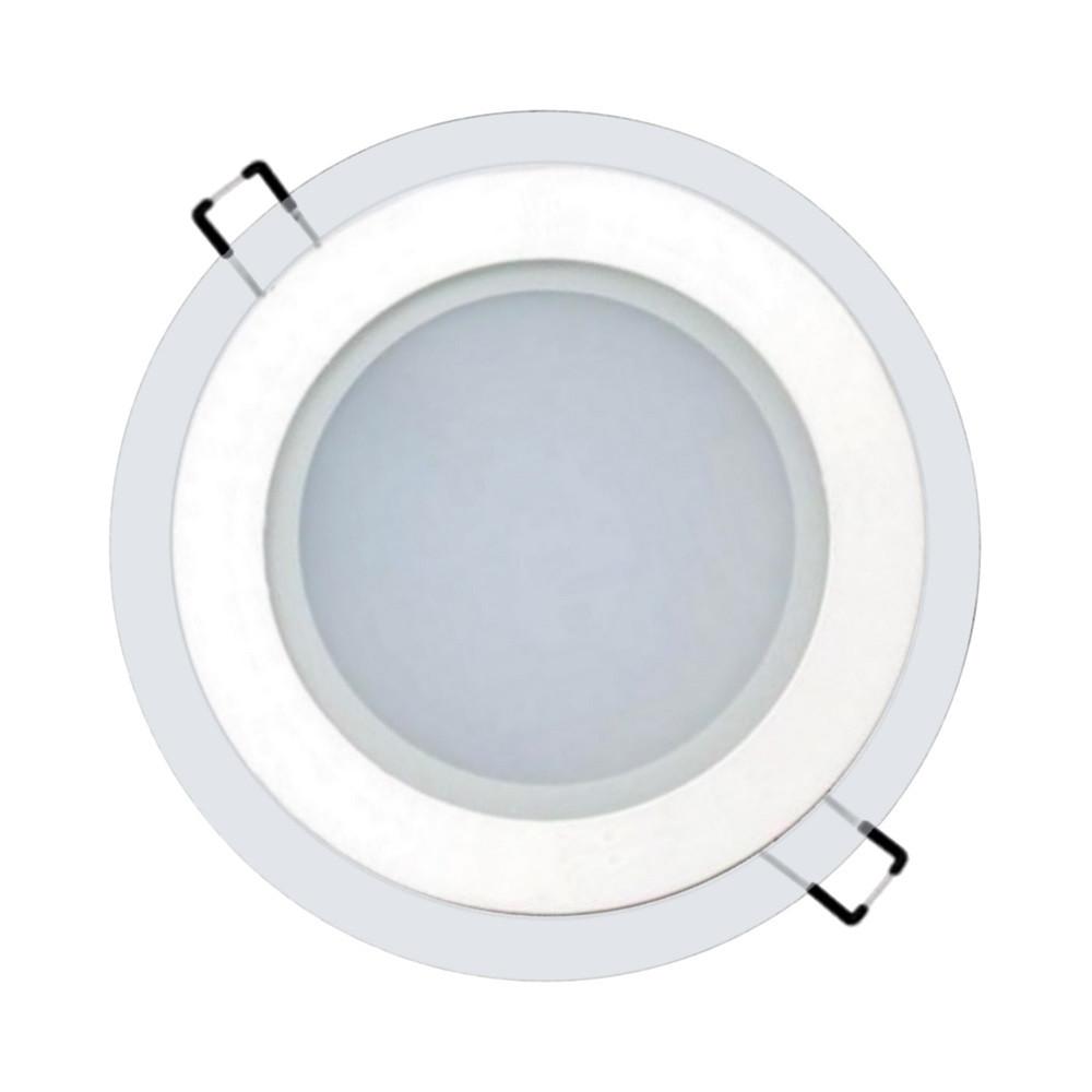 Светильник светодиодный встраиваемый LEDEX 6Вт 3000K 480lm круг стекло (102957)