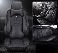 Модельные чехлы LUX на сидения автомобиля для Mazda перед и зад c подушкой