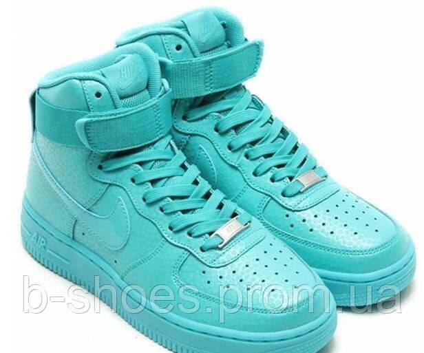 Женские повседневные кроссовки Nike Air Force 1  Mid (Mint)