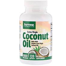"""Кокосовое масло Jarrow Formulas """"Coconut Oil"""" холодного отжима, 1000 мг (120 гелевых капсул)"""