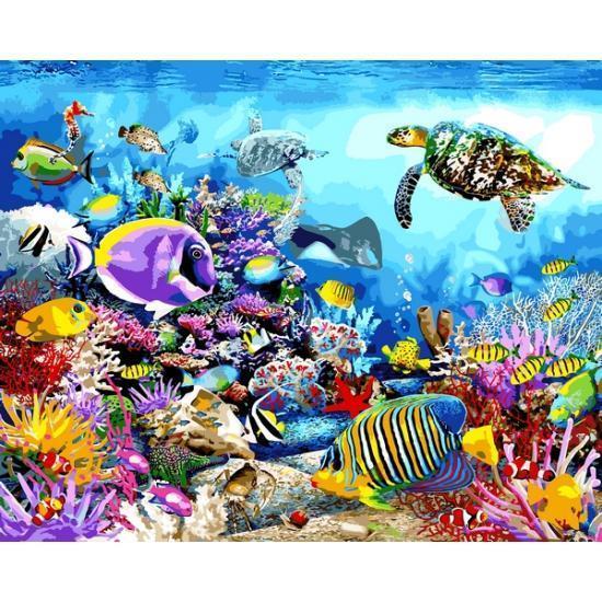 Картина по номерам Черепаховый рай, 40x50 см Babylon