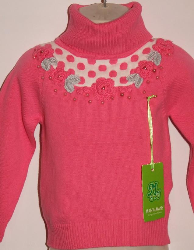 Гольф на девочку Many&Many 100 р розовый  арт 631