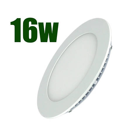 Светильник светодиодный встраиваемый LEDEX 16Вт 4000К 1440lm круг белый (102234), фото 2