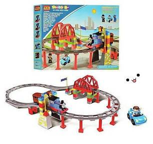 Железная дорога (конструктор) 8288D JIXIN Паровозик Томас, фото 2