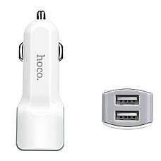 Автомобильное зарядное устройство Hoco на 2USB Z-23 С КАБЕЛЕМ MicroUSB-USB, фото 2