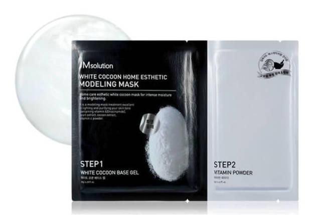 Моделирующая маска с протеинами шелкопряда  JMsolution White Cocoon Home Esthetic Modeling Masк, 1 шт, фото 2