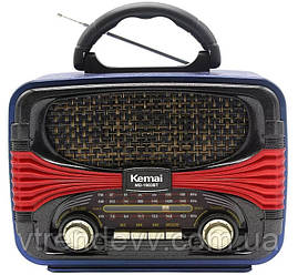 Ретро радиоприёмник портативная Bluetooth колонка Kemali MD-1903BT Black-Red