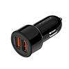 Авто зарядка PURIDEA CC02 2xUSB Dual Fast Charge Black
