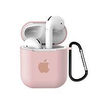 Чехол для Apple AirPods Серце silicone case Pink sand