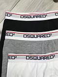 Подарочный набор мужских трусов Dsquared M XL хлопковые боксеры мужские трусы для мужчин Дискваред реплика, фото 8