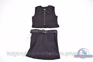 Костюм школьный для девочки (цв.чёрный) MILES 1411-B Рост:146,152