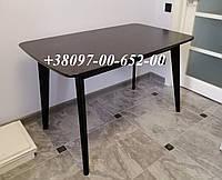 Стол кухонный Венге не раскладной Модерн 120х75 СО-293 Венге БУК с МДФ