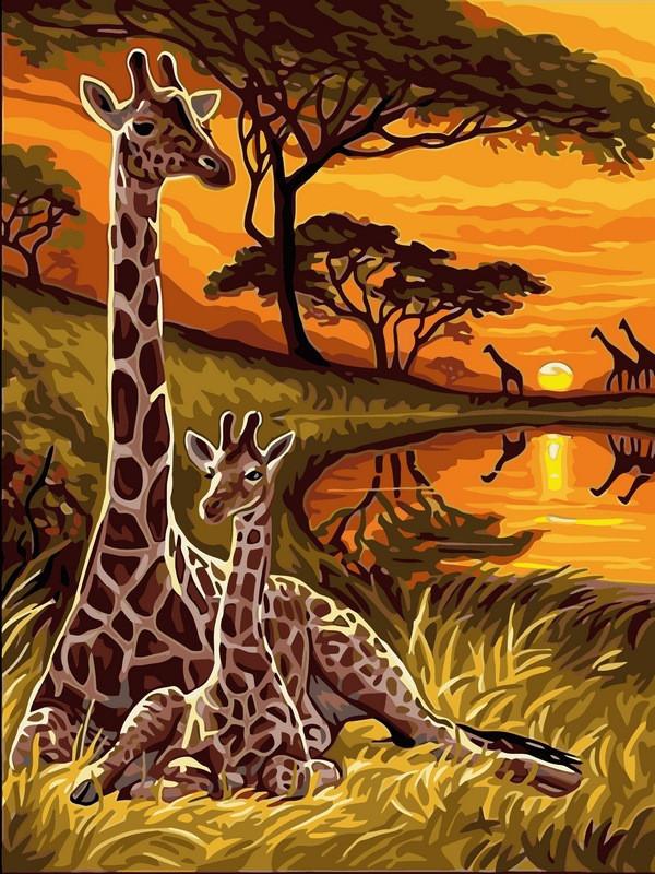 Картина за номерами Маленький жираф, 30x40 см Babylon