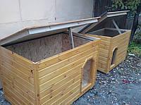 Будка утеплённая для маленьких пород разборная с съёмной крышей