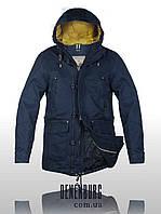 Куртка-парка мужская BLACK VINYL 15-863 темно-синяя, фото 1