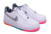 Женские повседневные кроссовки Nike Air Force 1  Low (White/Multicolored), фото 1