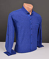 Мужские рубашки G-port синяя с узором