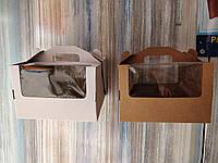 Коробка для торта 26*26*18 с окнами