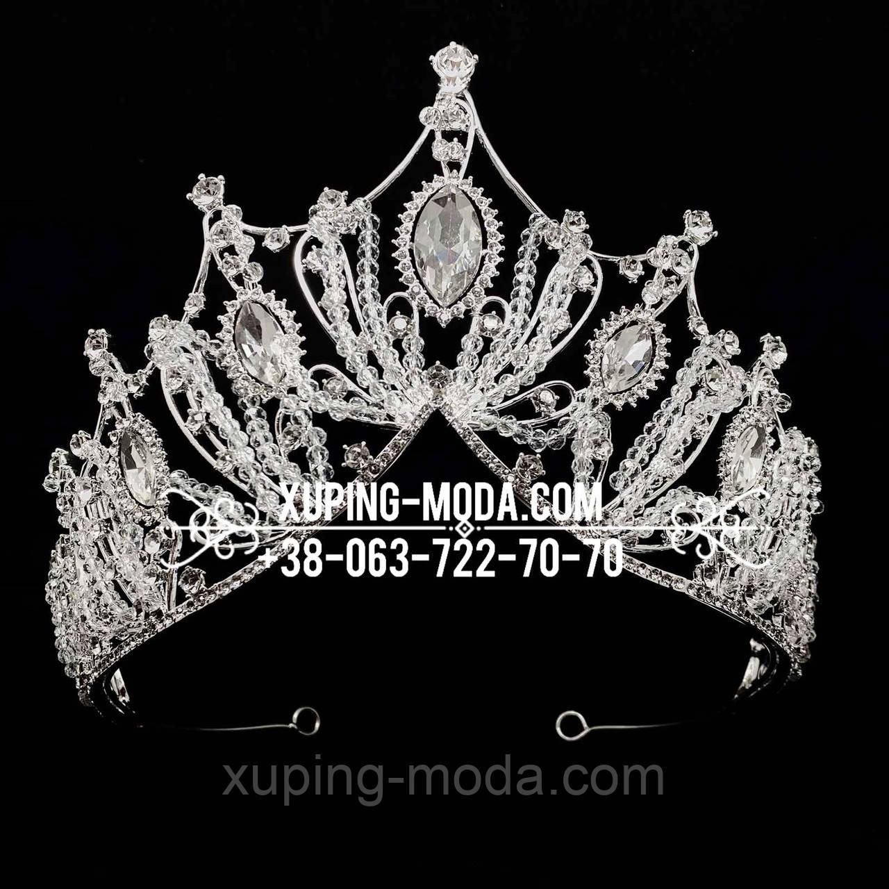 Праздничная массивная корона. Диадема для прически