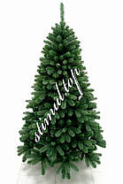 Елка зеленая литая 1.8 метра ✓ Искусственная зеленая ель Премиум ✓ Ели новогодние ✓ Ялинка штучна ПВХ, фото 3