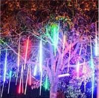 Гирлянда уличная Метеоритный дождь «Тающие Сосульки» Светодиодная цветной