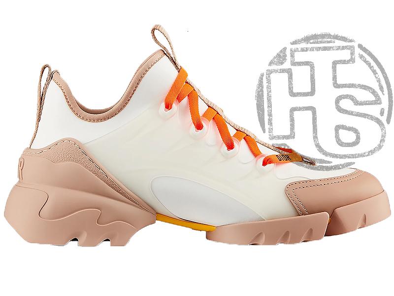 Женские кроссовки Dior D-Connect Sneaker in Neoprene White Brown KCK222NRL_S21W