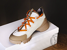 Женские кроссовки Dior D-Connect Sneaker in Neoprene White Brown KCK222NRL_S21W, фото 2