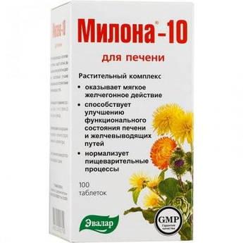 Милона – 10 (Эвалар) – травяные таблетки для печени