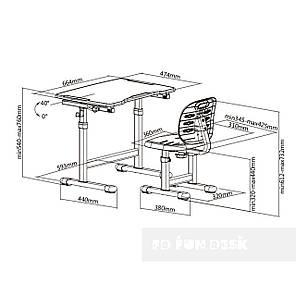 Комплект парта + стул трансформеры Omino Green FunDesk, фото 2