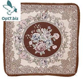 Декоративная наволочка с вышивкой из гобелена 60х60 см (от 12 шт)