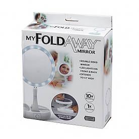 Зеркало My Fold Away с диодной подсветкой в примятой упаковке