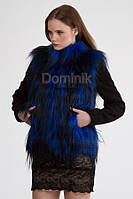 Пальто короткое шерстяное с мехом яка - 01901 длина 64 см