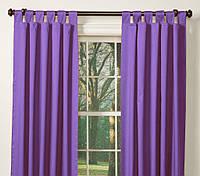 """Комплект штор на петлях """"Габардин"""" фиолетовый (ширина 1,5м высота 2,7 м 2 шт.) меняем высоту"""