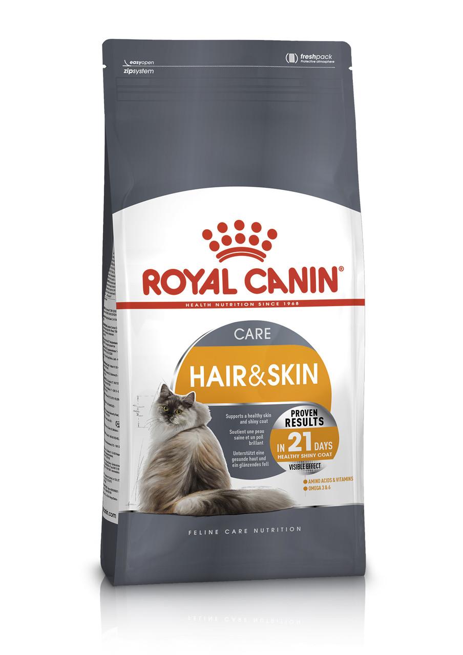 Сухой корм Royal Canin Hair & Skin Care для здоровья и красоты кожи и шерсти у кошек 400 г