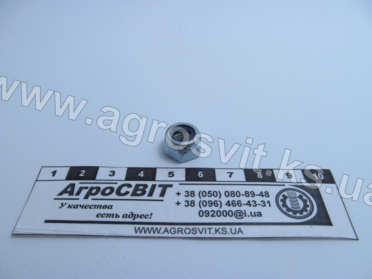 Контргайка М8х1,0; стандарт DIN 985, класс прочности 8.8