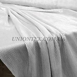 Ткань плиссе стрейч серебро