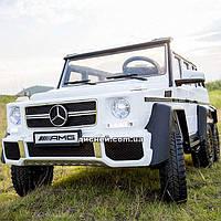 Двухместный детский электромобиль M 3971 EBLR-1 Mercedes, 4 мотора, белый