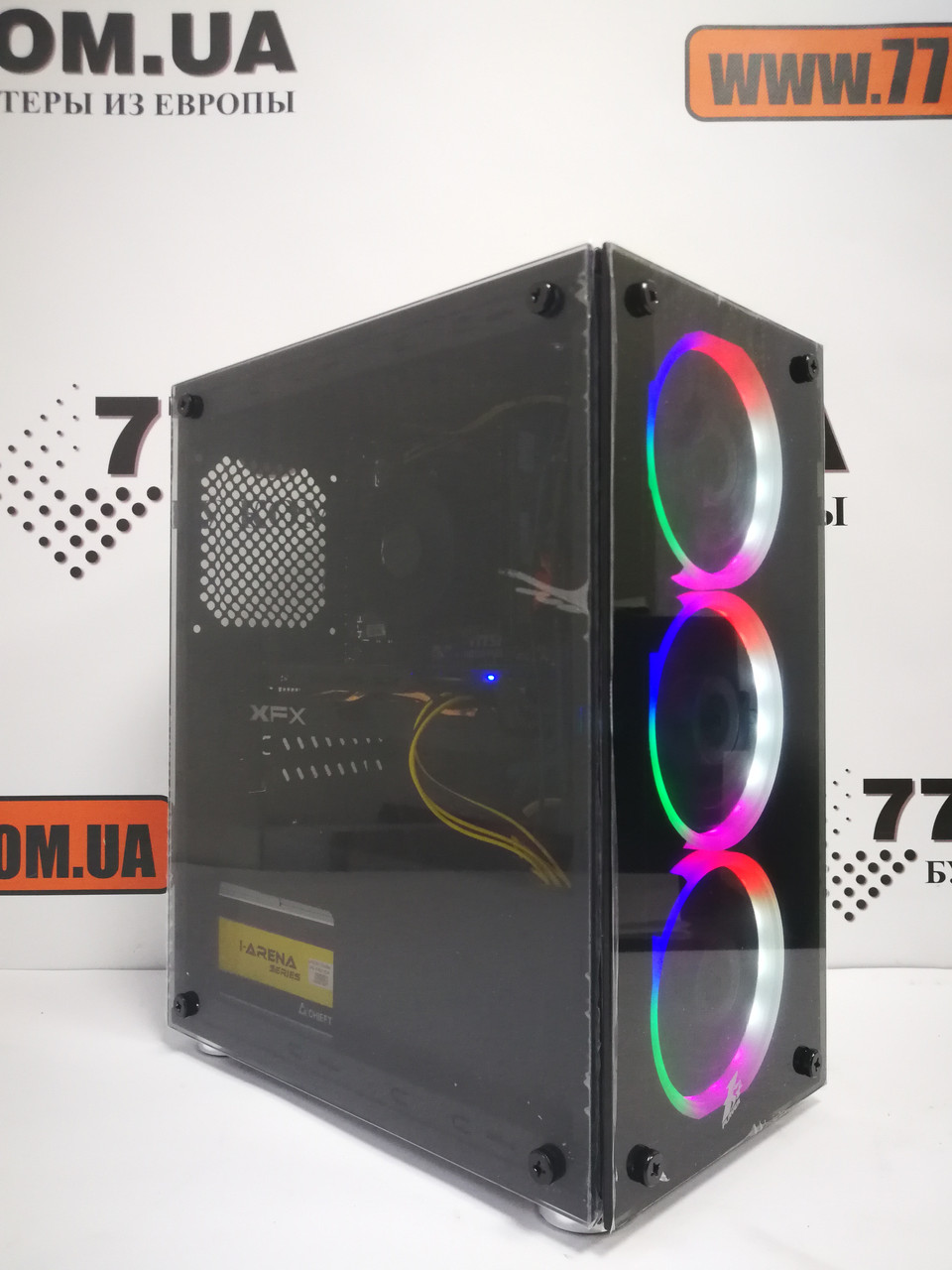 Игровой компьютер Intel Core i5-4570 (4 ядра), RAM 8ГБ, SSD 120ГБ, 500ГБ HDD, RX 580 8GB, 6 мес. гарантии