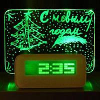 Настольные цифровые часы Foton с доской для записей LED clock Green