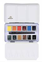 Набор акварельных красок REMBRANDT Monopigmented 12 кювет + кисть в металлическом пенале 05838690