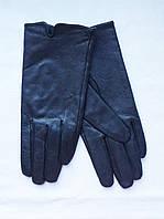 Перчатки женские демисезонные кожаные черные Atmosphere (Размер М/L)