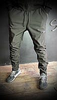 Мужские брюки на зиму  SOFTSHELL PANTS, черные