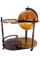 Напольный глобус бар со столиком 42004R коричневый