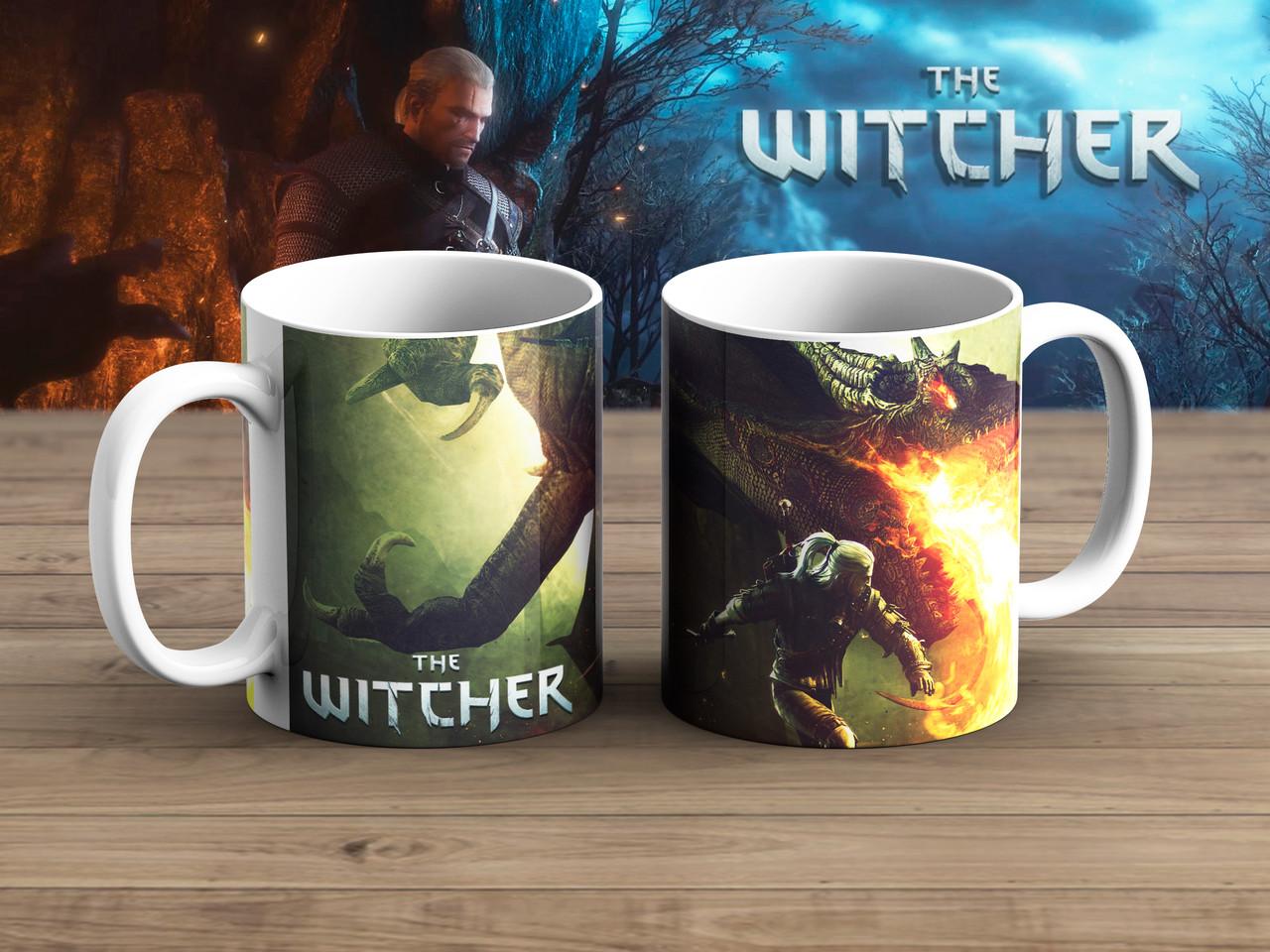 Чашка Против Дракона Ведьмак / Тhe Witcher