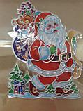 Наклейка 3D новогодняя Олень на окна, фото 3