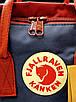Рюкзак Fjallraven Kanken Classic (Бордовый-синие вставки), фото 6