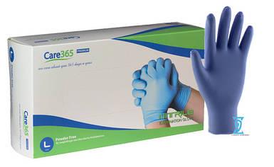 """Рукавички нітрилові сині """"Саге365"""" (L) 3,6 грама"""