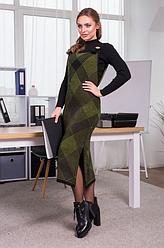 Платье-сарафан в клетку «Хлоя»