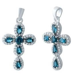 Крестики с драгоценными камнями