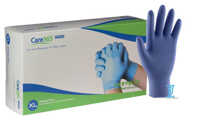 """Перчатки нитриловые синие """"Сare365"""" (XL), фото 2"""